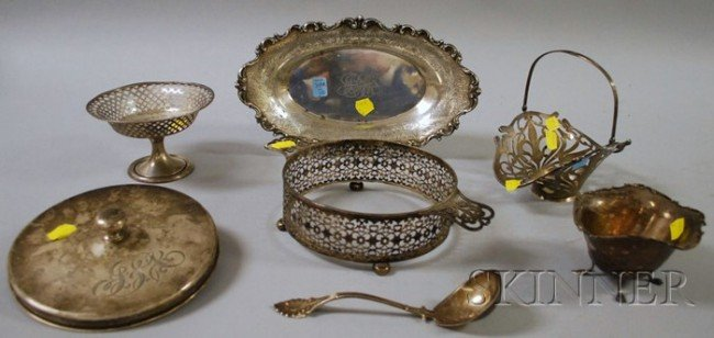 3: Six Sterling Silver Table Items, a Black, Starr & Fr
