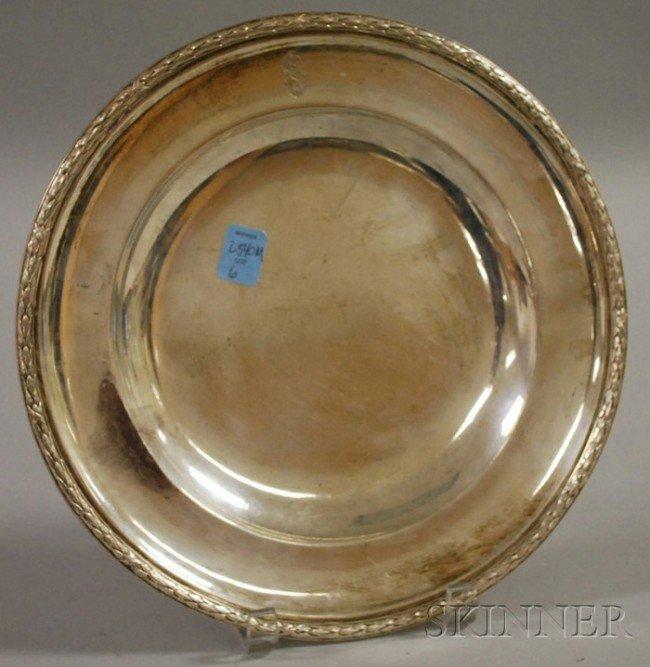 6: C. Meibler .800 Silver Plate, Germany, monogrammed,