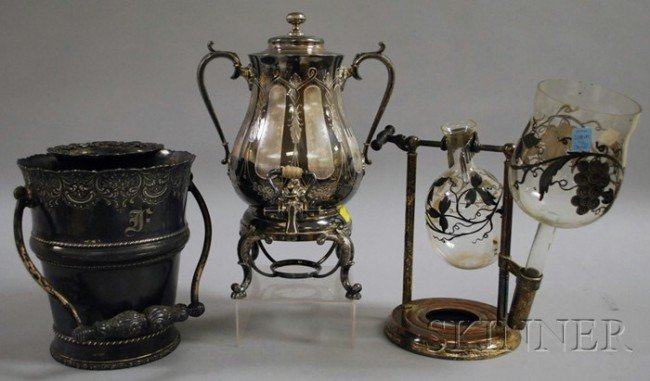 12: Three Victorian Silver-plated Tableware Items, a Re