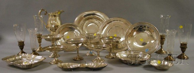 21: Group of Silver and Silver-plated Tablewares, inclu
