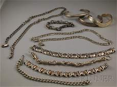 327: Small Group of Sterling Silver Jewelry, including