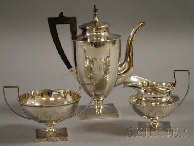 23: Birmingham Silver Company Three-piece Sterling Demi