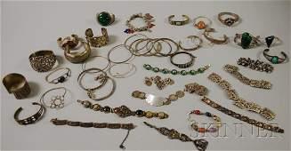 337: Large Group of Mostly Sterling Silver Bracelets, s