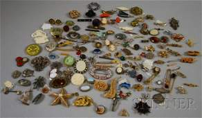 384: Group of Mostly Costume Brooches and Pins, includi