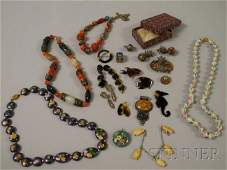 161: Small Group of Mostly Victorian and Asian Jewelry,