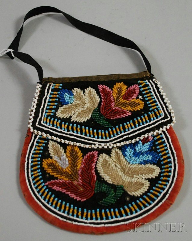 505: Iroquois Beaded Bag, ht. 6 3/4 in.
