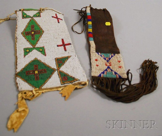 506: Lakota Beaded Bag, probably cut down from a larger