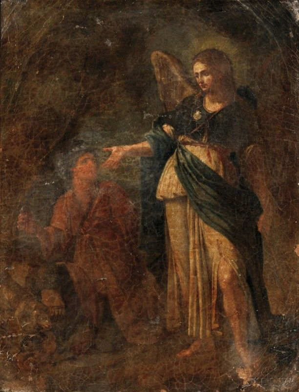 110: Italian School, 19th Century Archangel Raphael wit