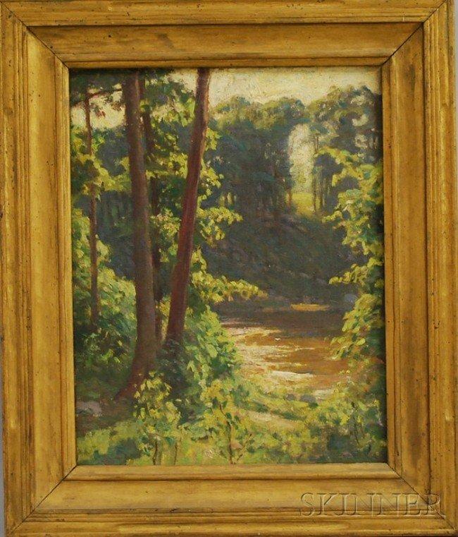 18: American School, 20th Century Landscape with Shallo
