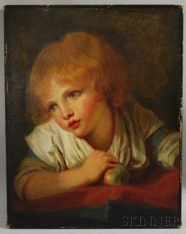 20: After Jean-Baptiste Greuze (French, 1725-1805) Head