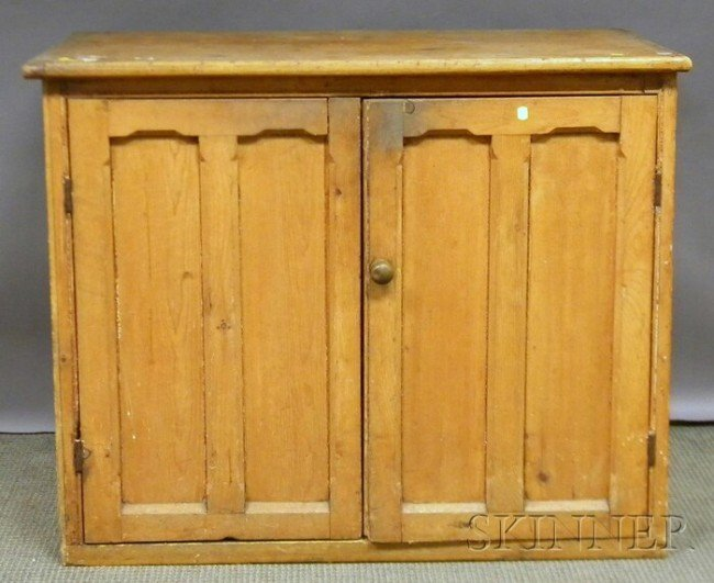 515: Pine Cabinet with Two Paneled Doors, ht. 33 1/2, w