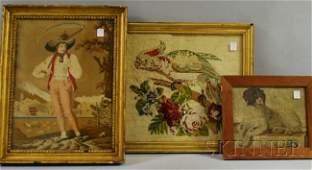 789: Three Framed 19th Century English Needleworks, dep