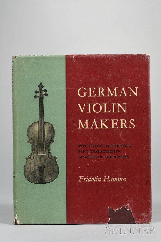 197: Hamma, Fridolin, German Violin Makers, 1961.