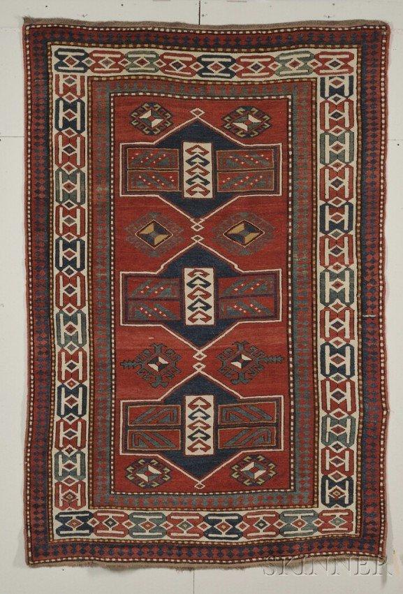 10: Kazak Rug, Southwest Caucasus, late 19th century, (