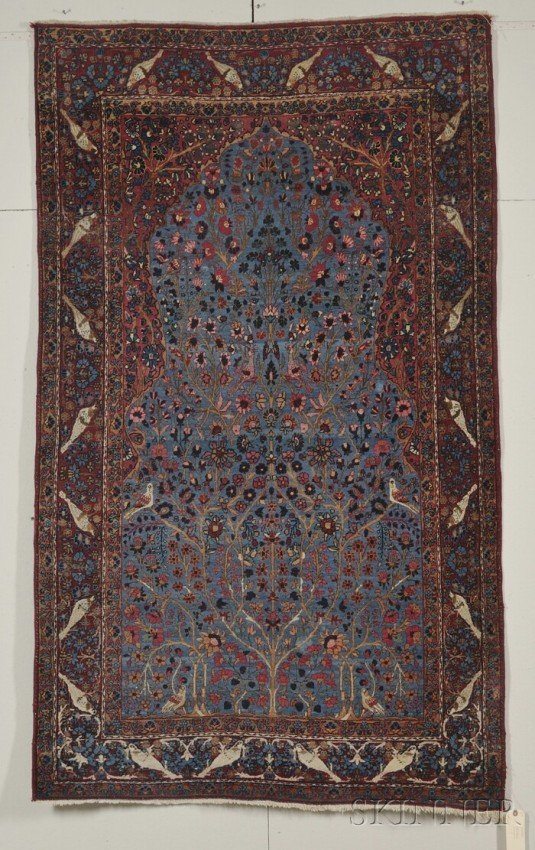 15: Kashan Rug, Central Persia, early 20th century, (tw