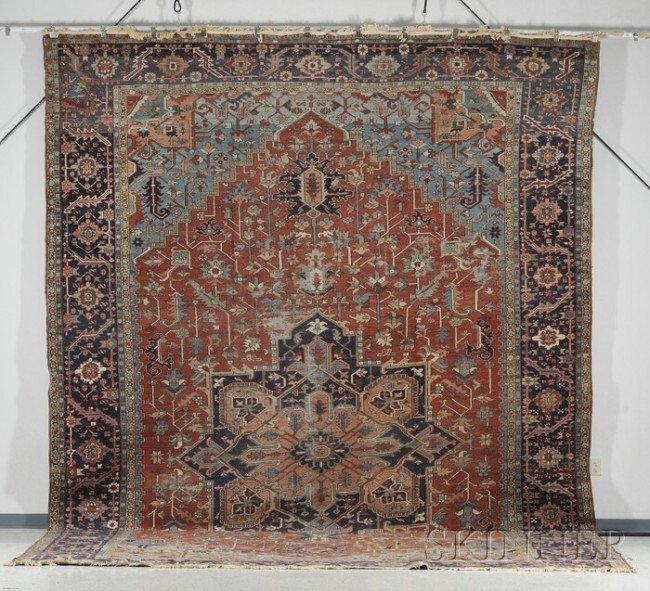 22: Heriz Carpet, Northwest Persia, last quarter 19th c