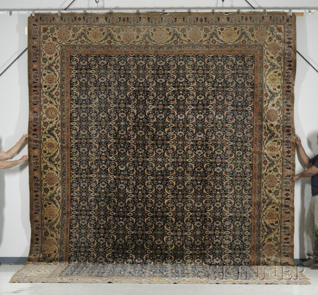 23: Persian Carpet, early 20th century, (small end, edg