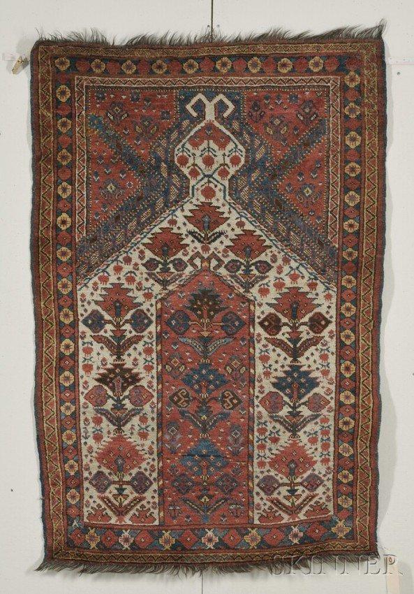 117: Beshir Prayer Rug, West Turkestan, second half 19t