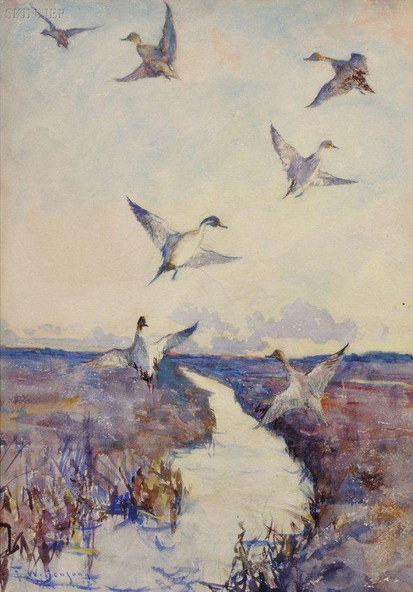 416: Frank Weston Benson (American, 1862-1951) Pintails