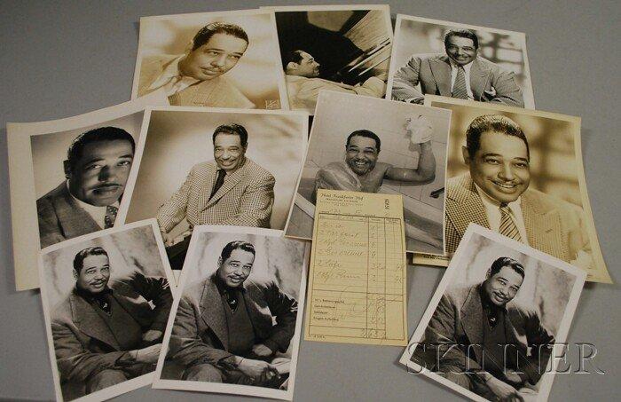 2: 1959 Duke Ellington Signed Hotel Frankfurter Hof Gue