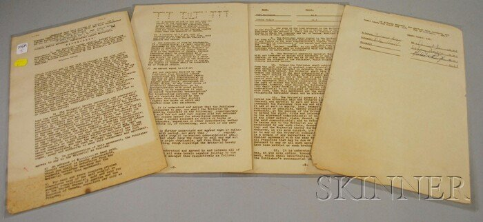 3: Duke Ellington and Johnny Hodges Signed Songwriting