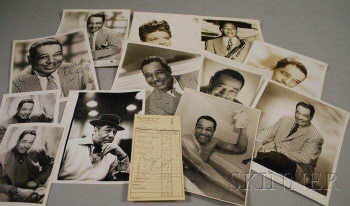 13: 1959 Duke Ellington Signed Hotel Frankfurter Hof Gu
