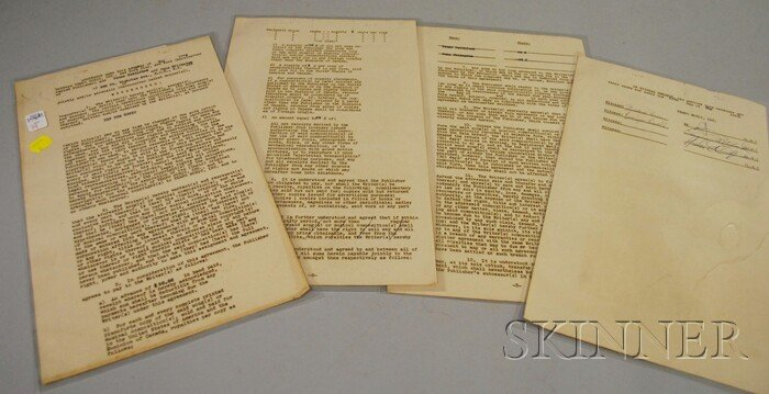 14: Duke Ellington and Oscar Pettiford Signed Songwriti