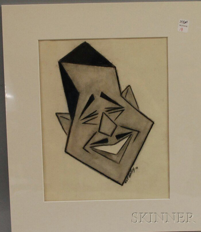 18: Calvin Bailey (b. 1915), Charcoal on Paper Portrait