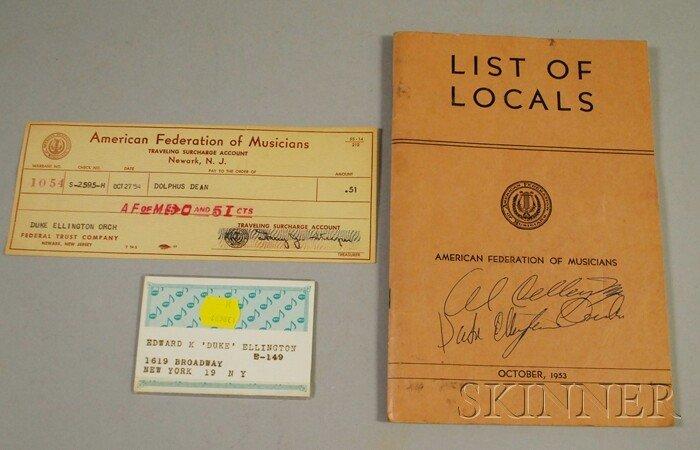 19: Duke Ellington's 1964 New York Musician Union Card