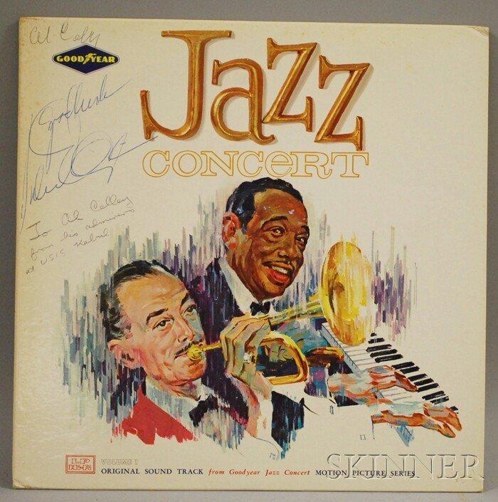 40: Duke Ellington Autographed Record Album Jazz Concer