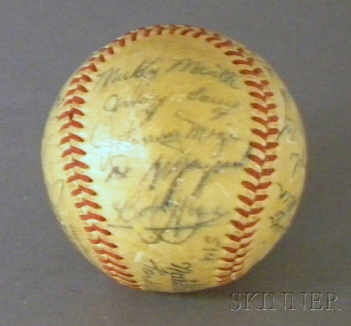 179: 1951 Autographed Baseball, including Rick Ferrell,