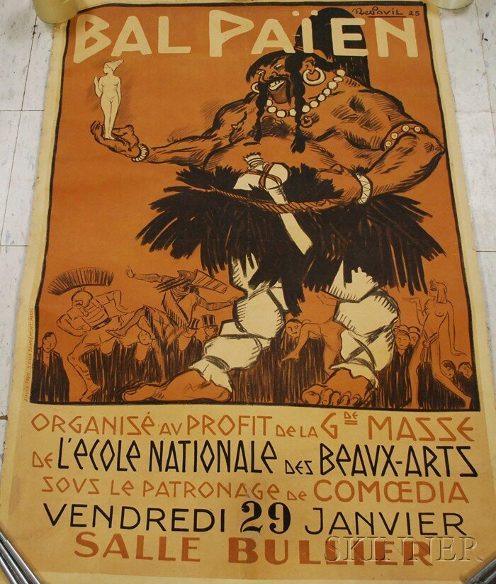 197: Bal Paien L'Ecole Nationale des Beaux-Arts Lithogr