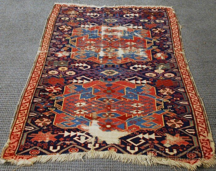 503: Seichour Rug, Northeast Caucasus, 19th century, 4