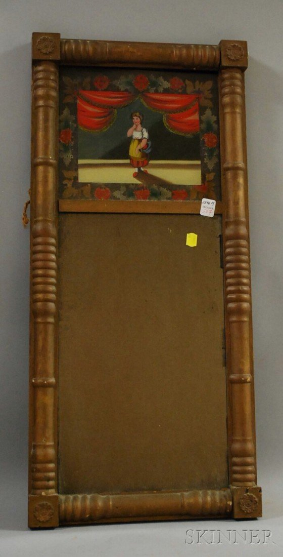 507: Federal Giltwood Split-baluster Mirror with Revers