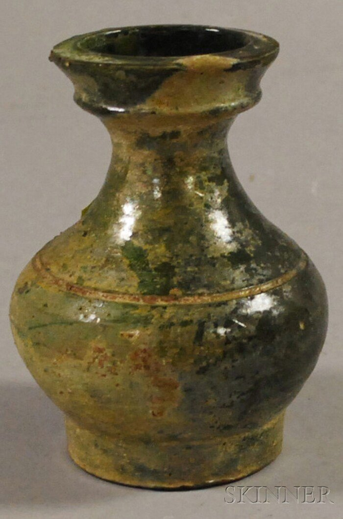 509: Green Glazed Jar, China, Han-style, the pottery ja