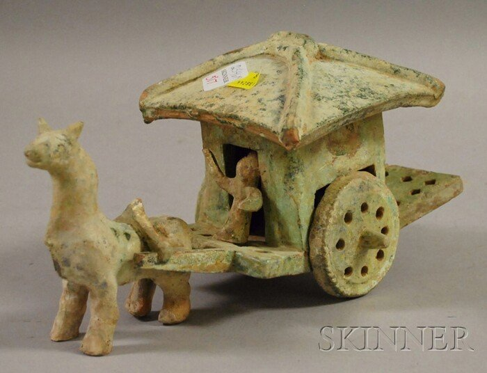 517: Straw-glazed Granary Cart, China, Han-style, molde