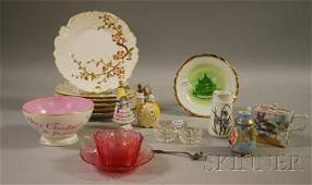 1012 Group of Late Victorian Glass and Ceramic Items