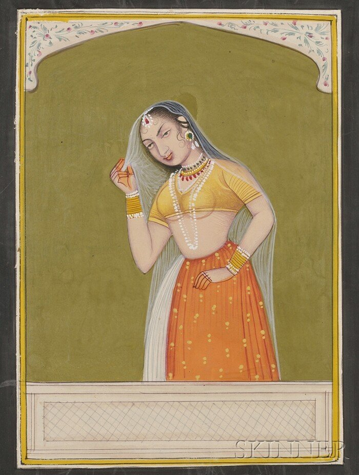 20: Miniature Painting, India, 19th century, ink and co