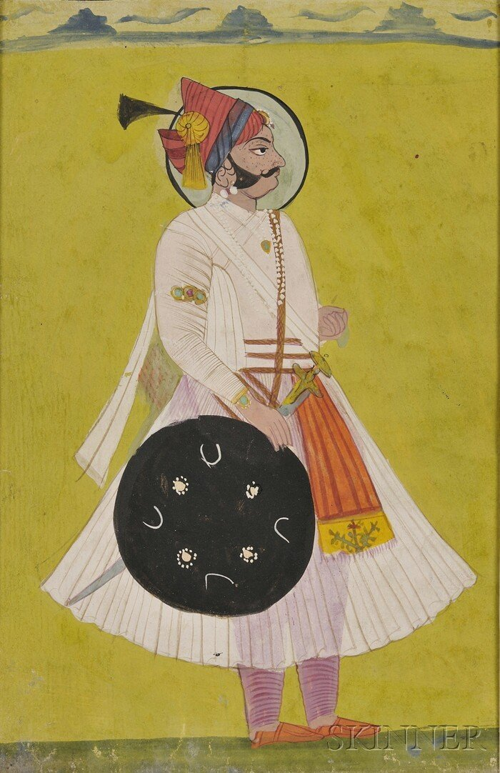 21: Miniature Painting, India, 19th century, ink and co