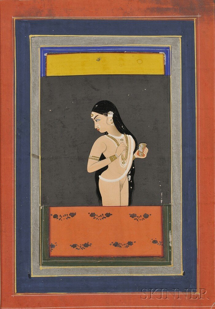 22: Miniature Painting, India, 19th century, ink and co