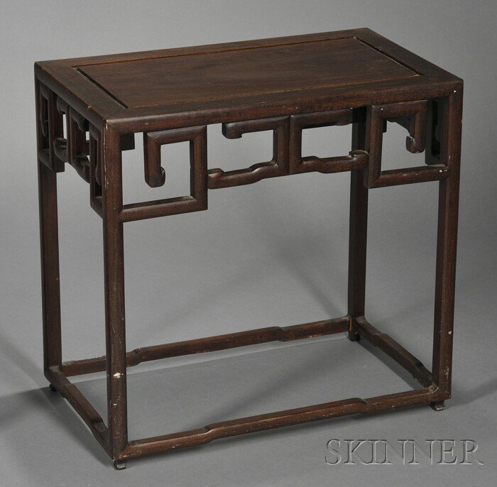248: Rosewood Side Table, China, 19th century, of recta