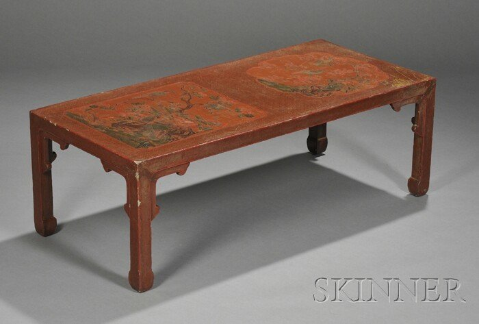 256: Lacquered Low Table, China, late 19th century, the
