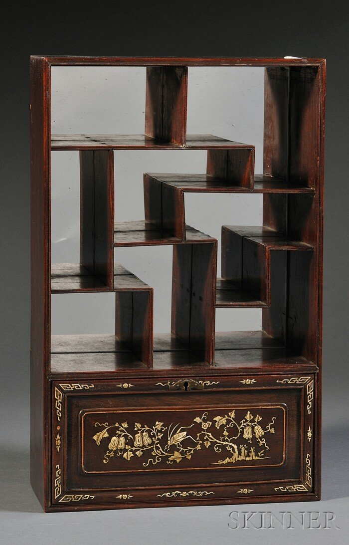 256A: Inlaid Display Cabinet, China, with eight compart
