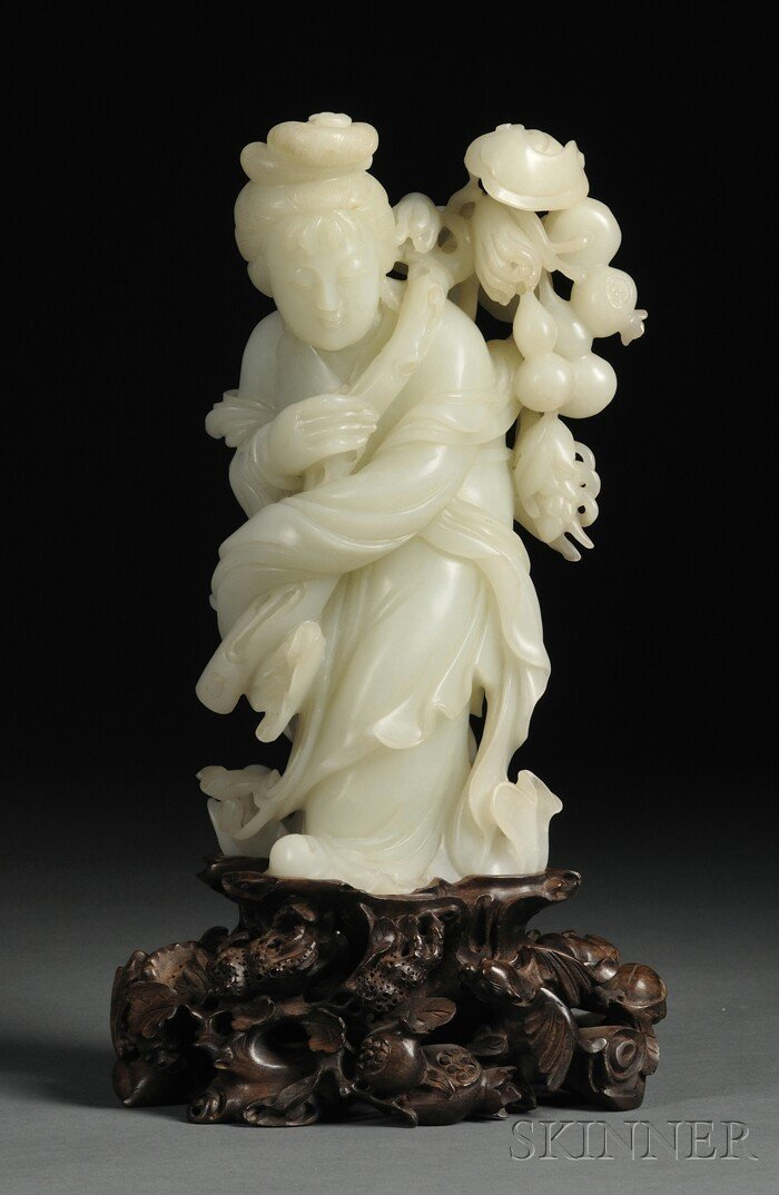 978: Jade Carving, China, 19th century, finely carved a