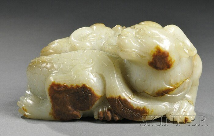 980: Jade Carving, China, 19th century, finely carved a