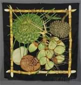 85 Silk Scarf Hermes Jardin Creole designed by V