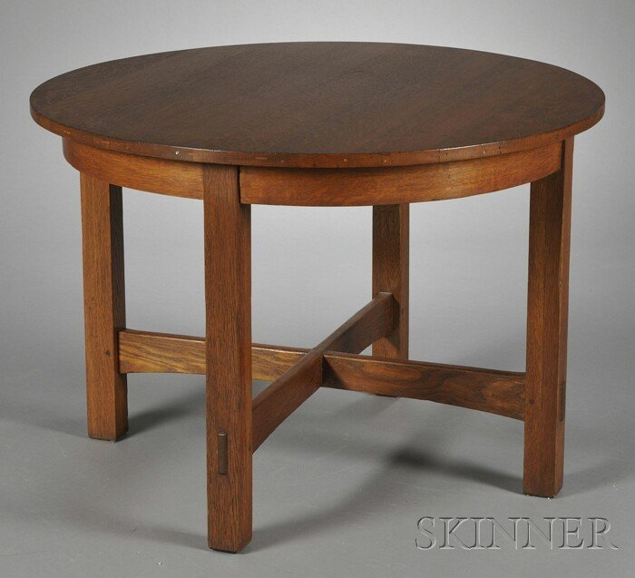 4: Arts & Crafts Table Oak New York, early 20th century