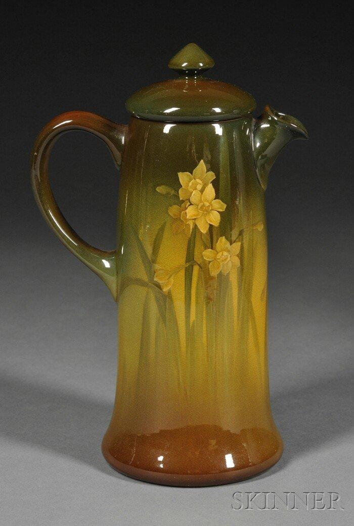 6: Rookwood Coffeepot Decorated pottery Olga Geneva Ree