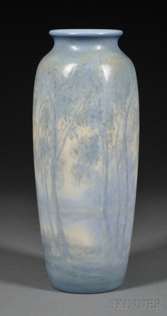 7: Rookwood Pottery Scenic Vellum Vase Decorated potter