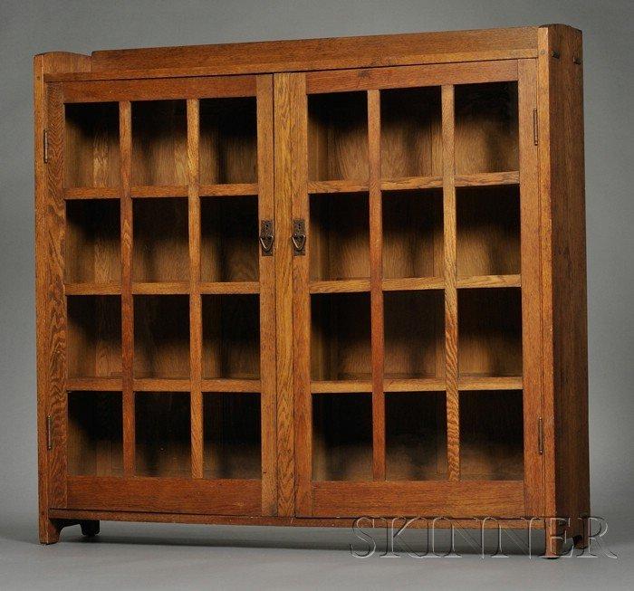 13: Gustav Stickley Bookcase Oak New York, 1907-12 Gall
